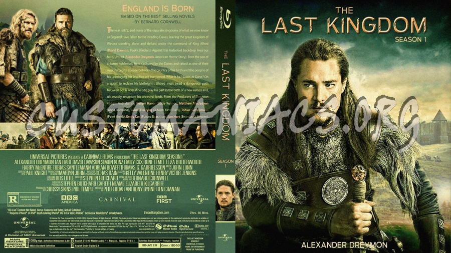 The Last Kingdom Season 1 blu-ray cover