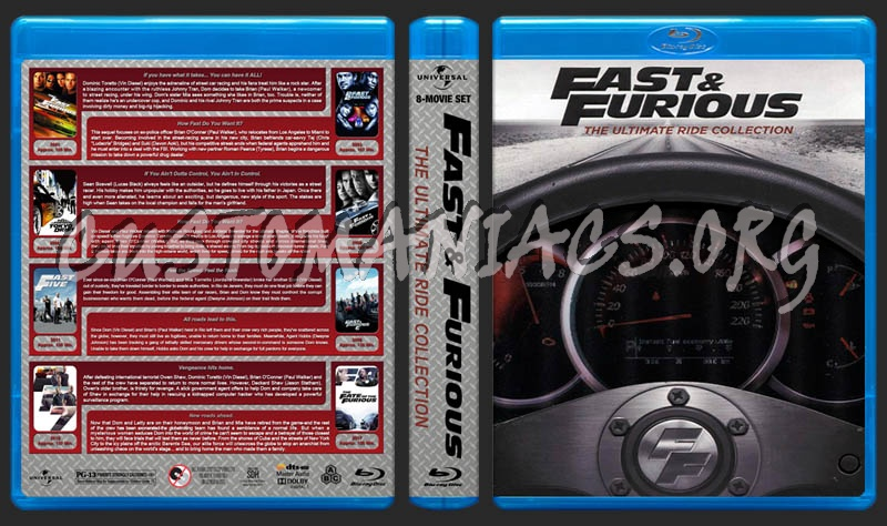 Fast & Furious: The Ultimate Ride Collection blu-ray cover