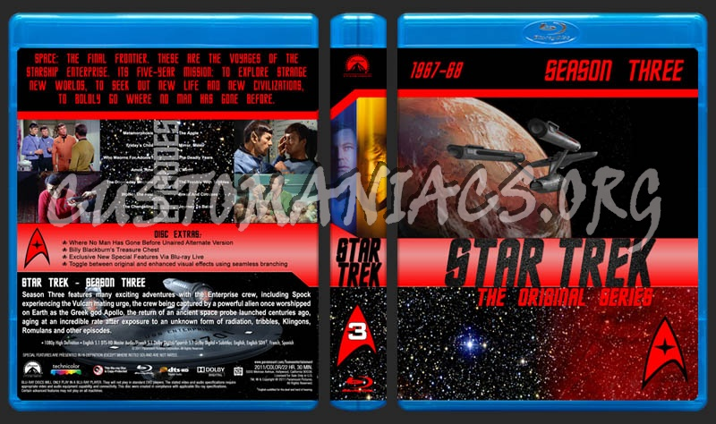 Star Trek: The Original Series - Season 3 dvd cover