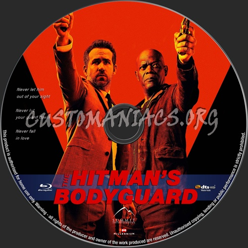 The Hitman's Bodyguard blu-ray label
