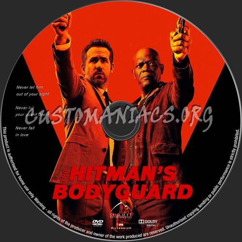 The Hitman's Bodyguard dvd label