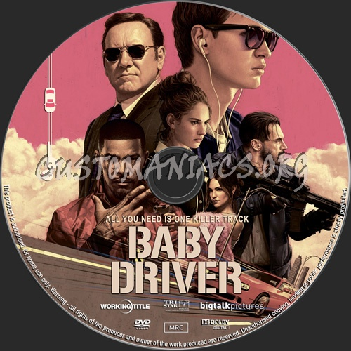 Baby Driver dvd label