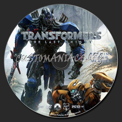 Transformers: The Last Knight dvd label