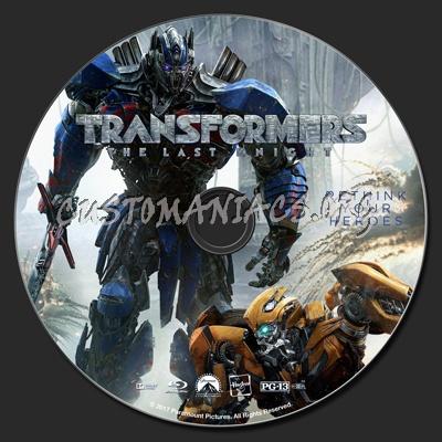 Transformers: The Last Knight blu-ray label