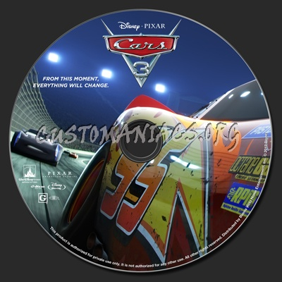 cars 3 blu ray label dvd covers labels by customaniacs id 247346 free download highres blu. Black Bedroom Furniture Sets. Home Design Ideas