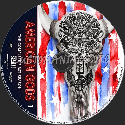 American Gods Season 1 dvd label