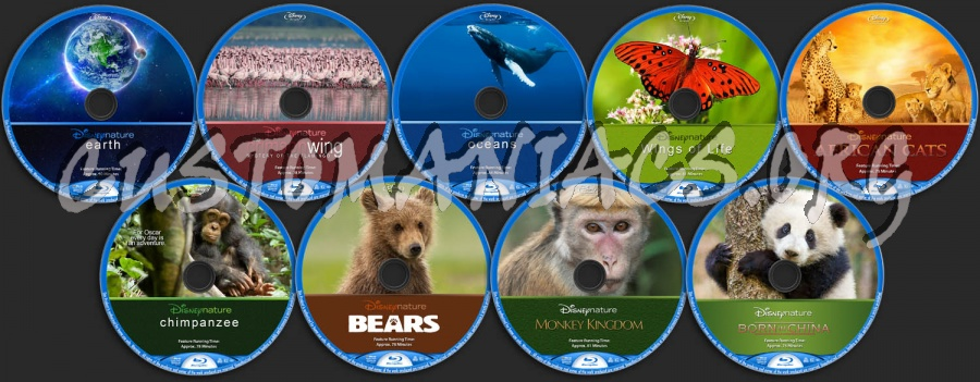 DisneyNature Collection (9) blu-ray label