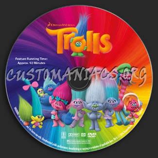 Trolls dvd label