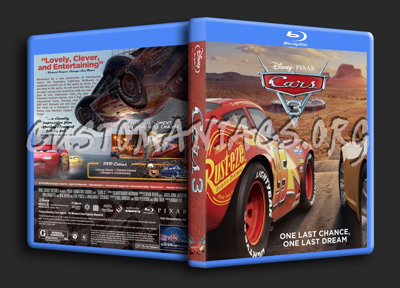 cars 3 blu ray cover dvd covers labels by customaniacs. Black Bedroom Furniture Sets. Home Design Ideas
