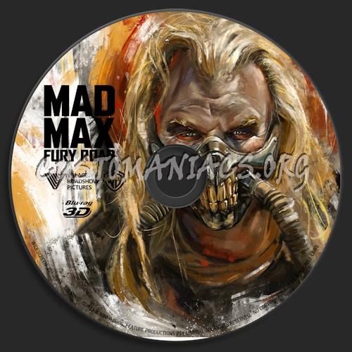 Mad Max: Fury Road (Blu-ray + 3D) blu-ray label