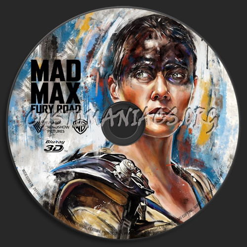 Mad Max: Fury Road (Blu-ray + 3D) blu-ray label