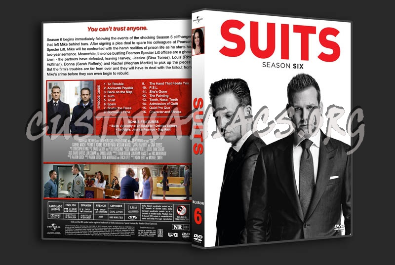 Suits - Season 6 dvd cover