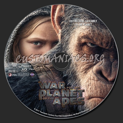 War For The Planet Of The Apes blu-ray label
