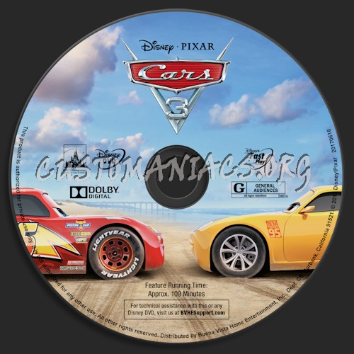 cars 3 dvd label dvd covers labels by customaniacs id 247752 free download highres dvd label. Black Bedroom Furniture Sets. Home Design Ideas