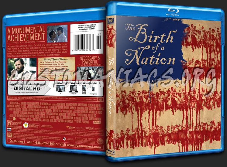 The Birth of a Nation (2016) blu-ray cover