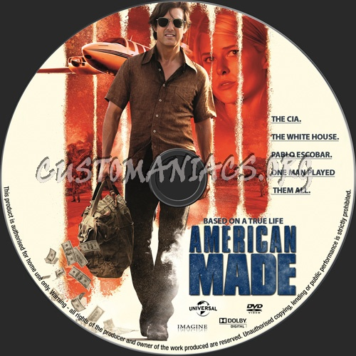 American Made dvd label
