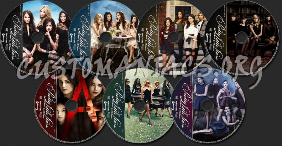 Pretty Little Liars Complete dvd label