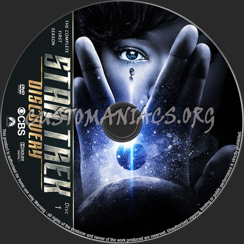 Star Trek Discovery Season 1 dvd label