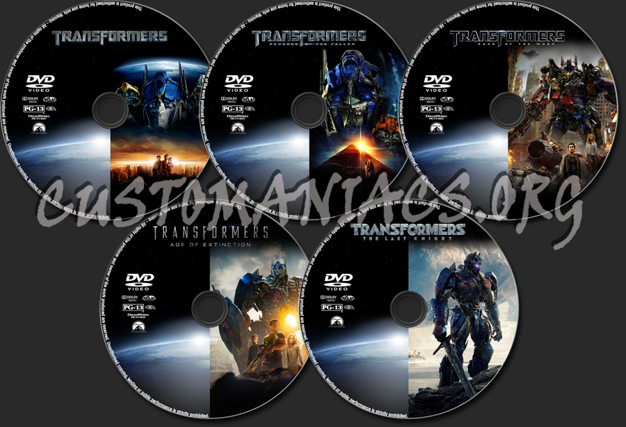 Transformers Collection dvd label