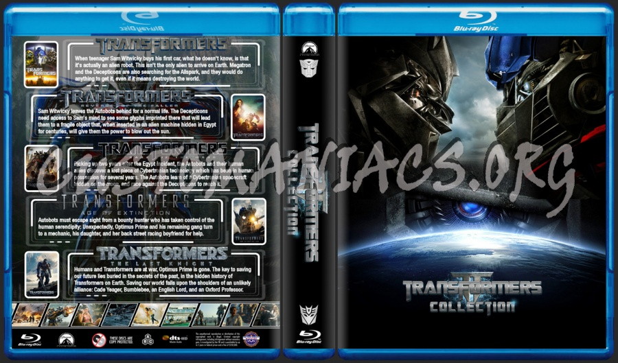 Transformers Collection blu-ray cover