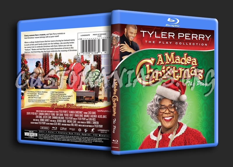 Madea Christmas Full Play.A Madea Christmas The Play Blu Ray Cover Dvd Covers
