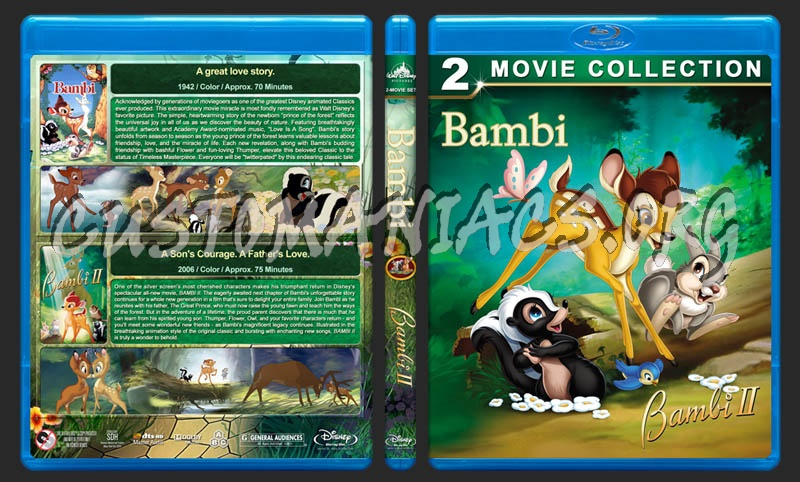 Bambi Double Feature dvd cover