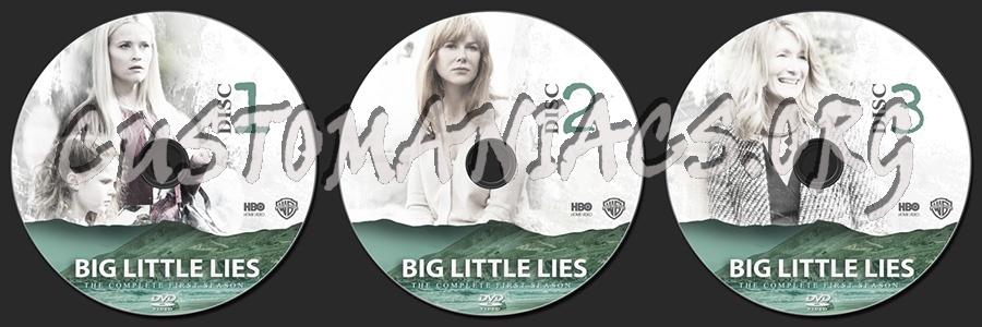 Big Little Lies Season 1 dvd label