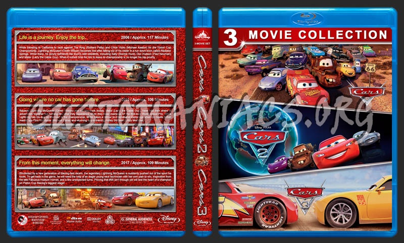 Cars Triple Feature blu-ray cover