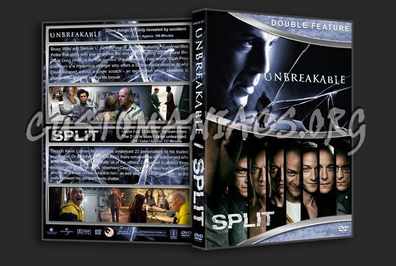 Unbreakable / Split Double Feature dvd cover