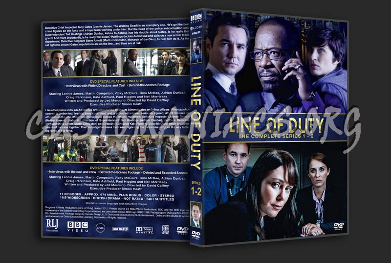Line of Duty - Series 1 & 2 dvd cover