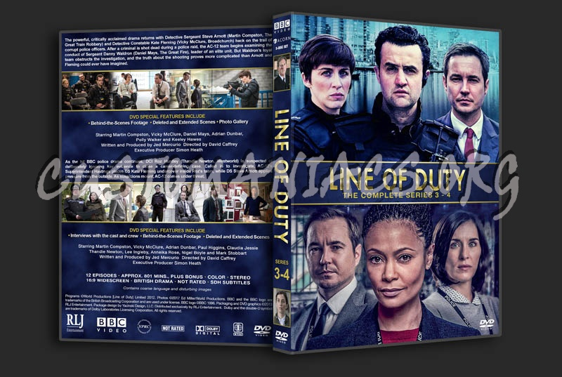 Line of Duty - Series 3 & 4 dvd cover