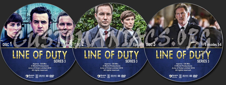 Line of Duty - Series 3 dvd label