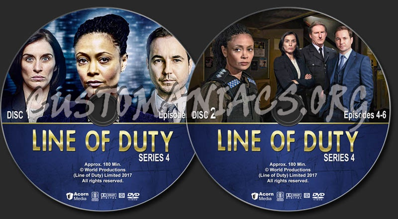 Line of Duty - Series 4 dvd label