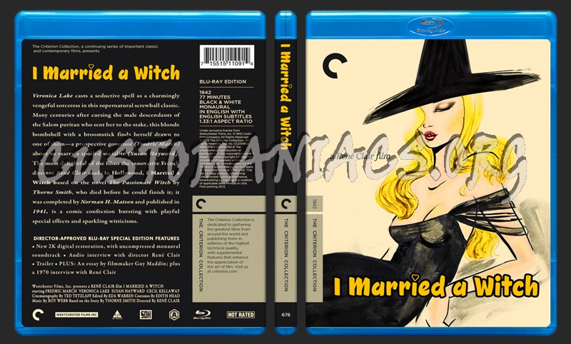 676 - I Married a Witch blu-ray cover