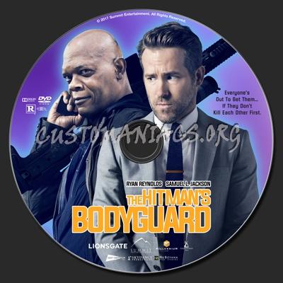 The Hitman's Bodyguard dvd label