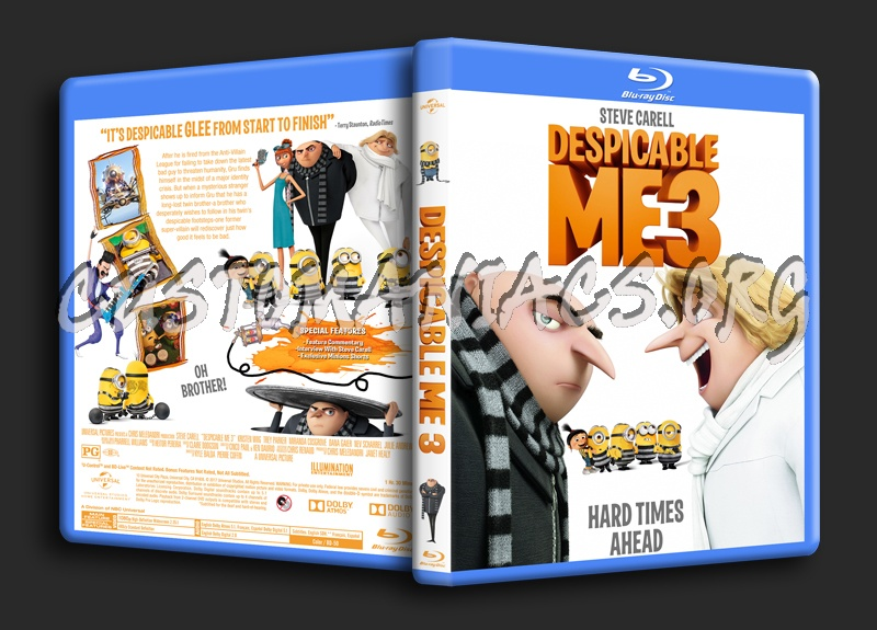 Despicable Me 3 blu-ray cover