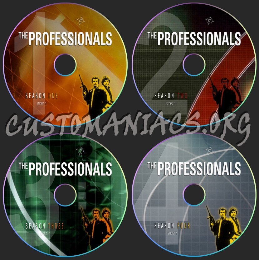 The Professionals dvd label