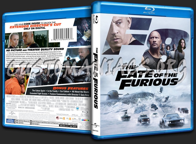 The Fate of the Furious (FF8) blu-ray cover