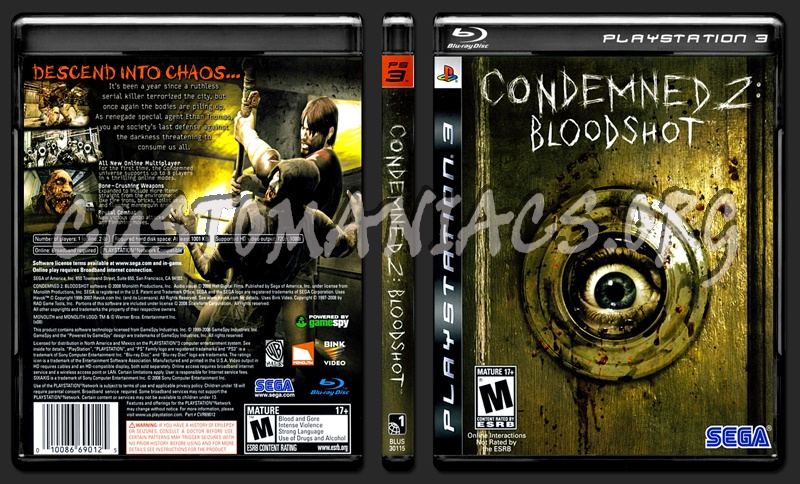 Condemned 2 Bloodshot dvd cover