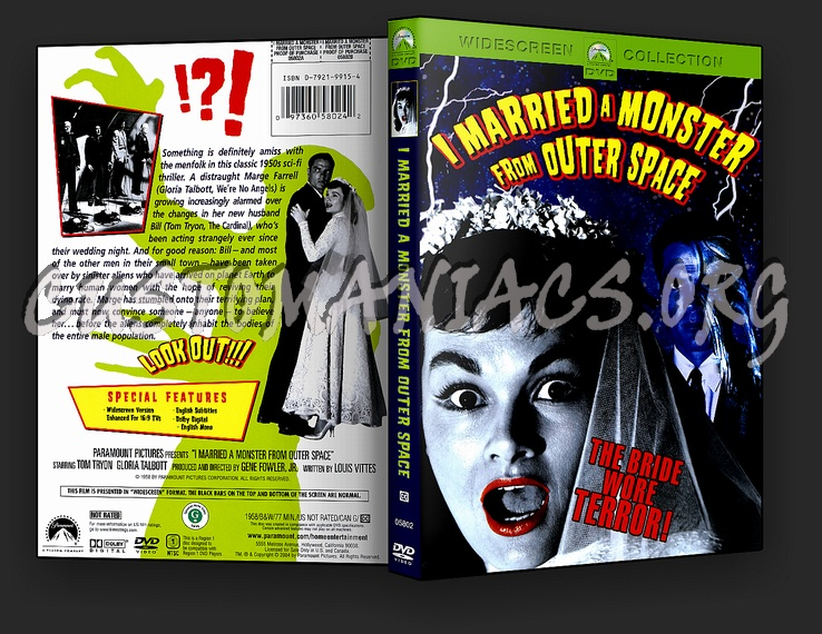 I Married a Monster from Outer Space dvd cover