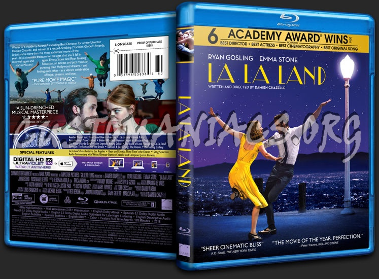 La la land blu ray cover dvd covers labels by customaniacs id 248476 free download highres - La la land download ...