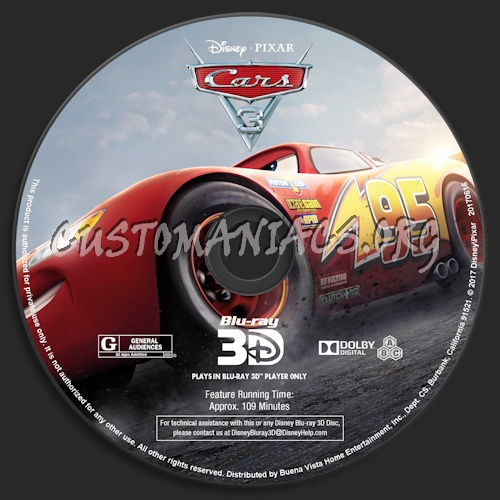 cars 3 blu ray 3d blu ray label dvd covers labels by customaniacs id 248493 free. Black Bedroom Furniture Sets. Home Design Ideas
