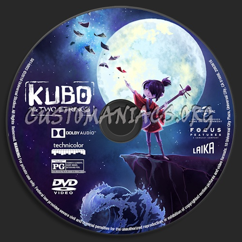 Kubo And The Two Strings dvd label