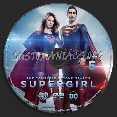 Supergirl Season 2 dvd label