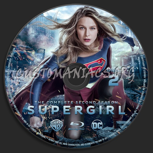 Supergirl Season 2 blu-ray label