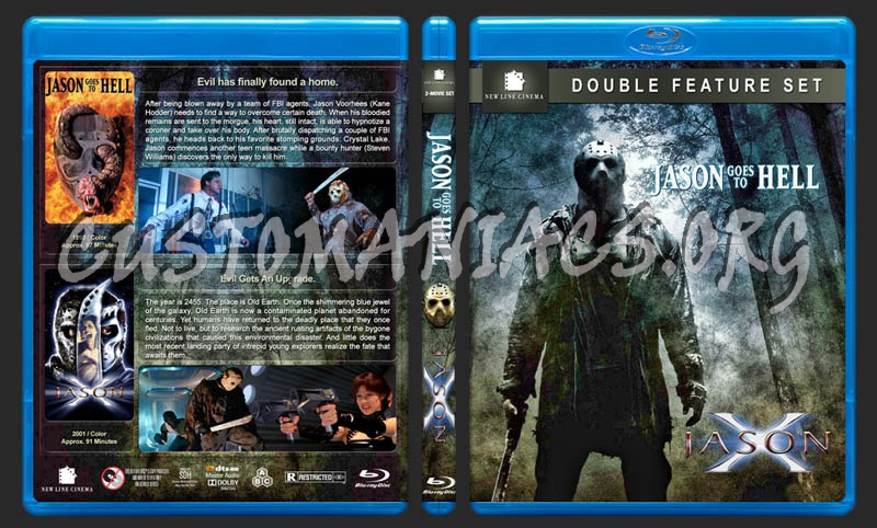 Jason Goes to Hell / Jason X Double Feature blu-ray cover