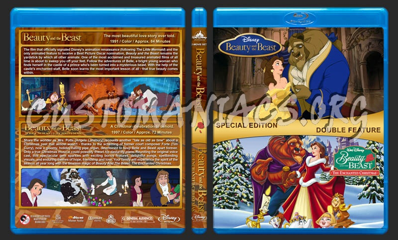 Beauty and the Beast Double Feature blu-ray cover