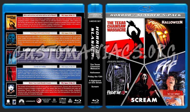 Horror / Slasher 5-Pack blu-ray cover