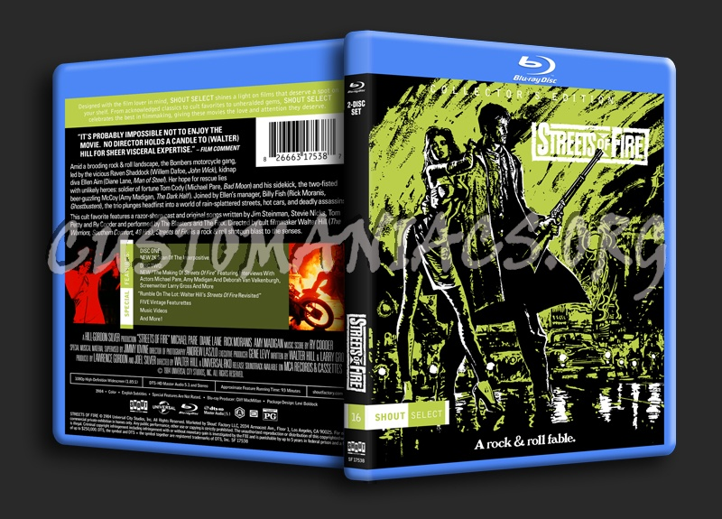 Streets of Fire blu-ray cover