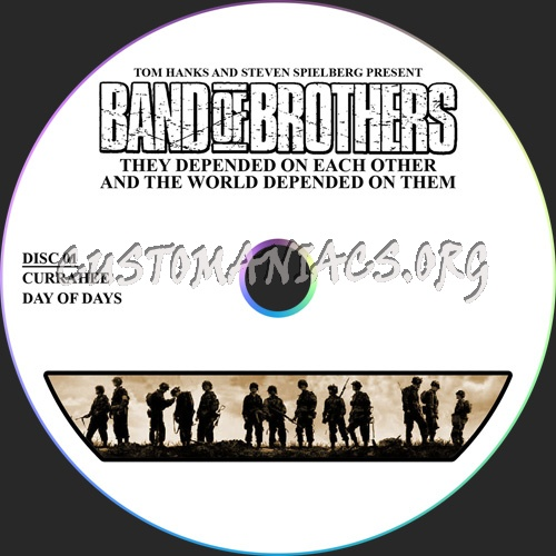 Band Of Brothers (6 Discs) dvd label
